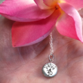 Sterling Silver Lotus  Yoga Necklace