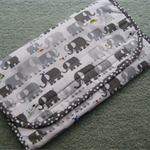 Baby Travel Changemat with Pouches for Nappies and Wipes - Elephants - Unisex