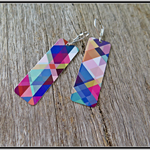 GROOVY BABY DYE SUBLIMATION, GRAPHIC PRINTED EARRINGS