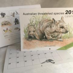 2018 Calendar Australian threatened species wildlife animals birds Wall A4