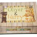 Woodland Animals Time Capsule Keepsake Trinket Treasure Memory Wooden Box