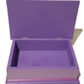 Beautiful Princesses Keepsake Trinket Treasure Jewellery Wooden Box White Purple