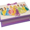 Beautiful Princesses Keepsake Trinket Treasure Jewellery Wooden Box White Purple