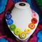 Beaut Buttons - Rainbow Pride button necklace