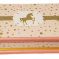 Pink & Gold Glitter Unicorn Keepsake Trinket Treasure Jewellery Memory WoodenBox