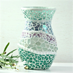 Beach Inspired  Mosaic Vase  gift boxed