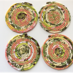 Fabric/rope coasters x 4