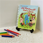 Old MacDonalds Farm Keepsake Baby Book, New Baby Record book, Story Book Journal