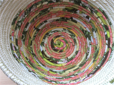 Large fabric rope basket