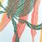 Linocut Banksia and Leaves Floral botanical native Australia