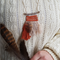 mini weave necklace - falcon feather