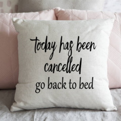 Bed Pillow Cover - Funny Quote Cushion - Accent Pillow - Decorative Pillow -