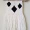 woven wall hanging - tribal diamond, black and white