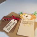Female birthday card. Flower pot birthday card.