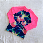 Bubble Print Rashie Swim top - Size 4