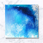 Blue Dreaming - Abstract Acrylic Painting- Contemporary Artwork-Fathers Day Gift