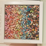 Shadow Box Origami Rainbow Art