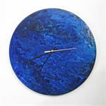 Handmade Wooden Clock - -Blue Dreaming- Fathers Day Gift