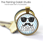 TODAY IS A GOOD DAY Quote Pendant or Key Ring.  Available in Bronze or Silver