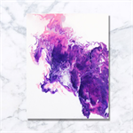 Amethyst Contemporary Artwork - Acrylic Painting