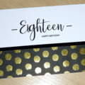 Age Birthday card - Eighteen - black & gold -18th 21st 30th 40th any age