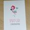 Baby Girl congratulations card - flamingo