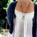 Two pink dandelions necklace ~ sku:DL008