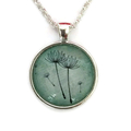 Four green dandelions pendant ~ sku:DL004