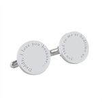 Engraved personalised silver cufflinks - Reasons Why - Fathers Day gift