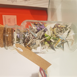 Medium Jar of Fairy Tale Origami Cranes