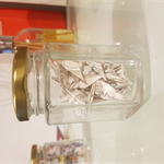 Small Jar of Harry Potter Origami Cranes