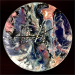 Resin Art Wall Clock
