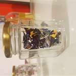 Small Jar of Superman Comic Origami Cranes