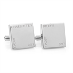 Engraved personalised silver cufflinks - Minimalist My Daddy - Fathers Day gift