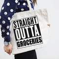 Shopping Bag , Grocery Bag , Canvas Tote , Funny Gift , Market Bag , Large Tote