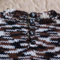 SIZE 4 -5 :Hand knitted jumper in black, brown & white: Boy, washable,