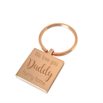 Hurry Home Daddy - Engraved personalised keyring Fathers Day gift