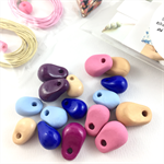 Make it yourself necklace kit-handcrafted polymer clay beads- Summer tones