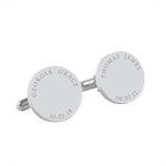 Engraved personalised silver cufflinks - My Family - Fathers Day gift