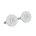 Initials Letter Monogram - Engraved personalised cufflinks, Fathers Day gift