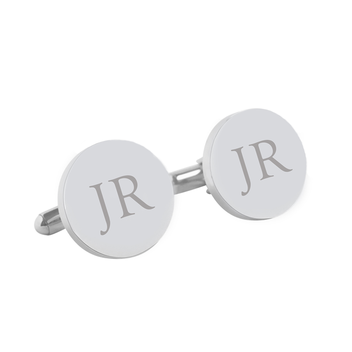 Initials Letter Monogram - Engraved personalised cufflinks