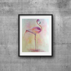 "Flamingo, Print, 8' x 10"" Watercolour, Flamingo Watercolour painting"