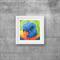 "Lorikeet, Print, 8"" x 8"" Coloured Pencil, Australian Birds,"
