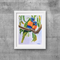 "Lorikeets, Print, 8' x 10"" Coloured Pencil, Australian Birds,"