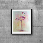 "Flamingo, Print, 8' x 10"" Watercolour, Flamingo Watercolour painting"