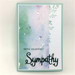 Sympathy Card - Water Colour panel, Heartfelt