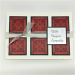 Sympathy Card - With Deepest Sympathy, grey and red