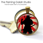 SAMURAI Key Ring or Pendant.  Available in Bronze or Silver