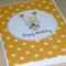 Girls Happy Birthday card - girl on swing