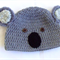 Koala bear hat (crocheted)